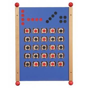 Grand jeu mural Puissance 4 bleu