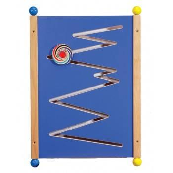 Grand jeu mural Zick Zack en bois bleu