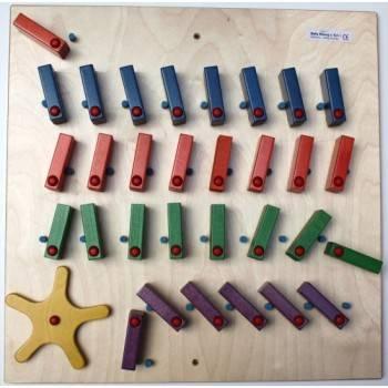 Jeu mural Dominos avec roue