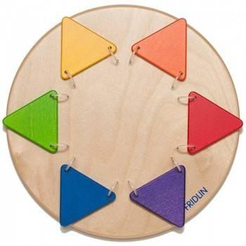 Jeu mural Triangles colorés (Grand)