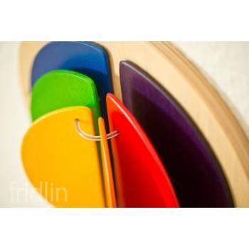 Jeu mural rond Livre coloré