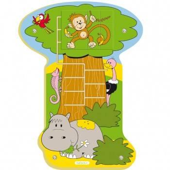 Jeu mural Puzzle Jungle Singe