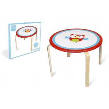 Table ronde enfant Hibou