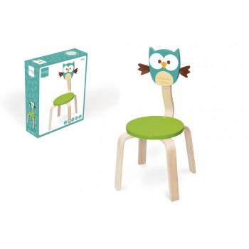 Chaise en bois enfant Hibou Lou