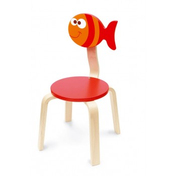 Chaise en bois enfant Poisson