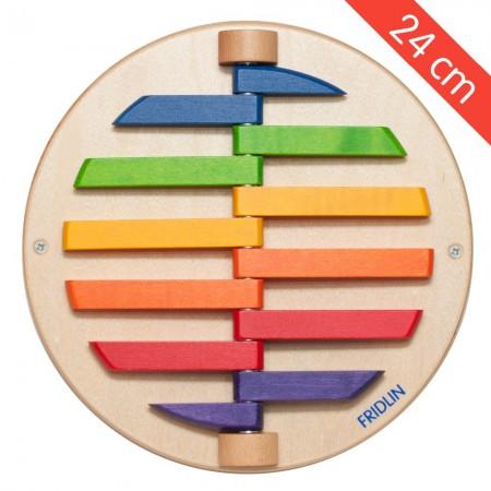 Jeu mural rond 12 pièces colorées (petit)