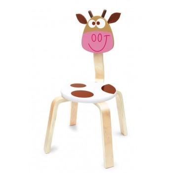 Chaise en bois enfant Vache