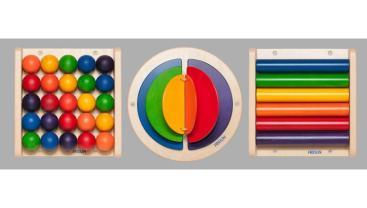 Jeux muraux colorés