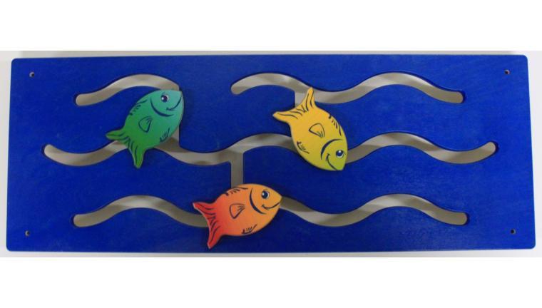 Jeu mural Poissons bleu